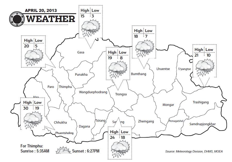 Bhutan Weather April 20 2013