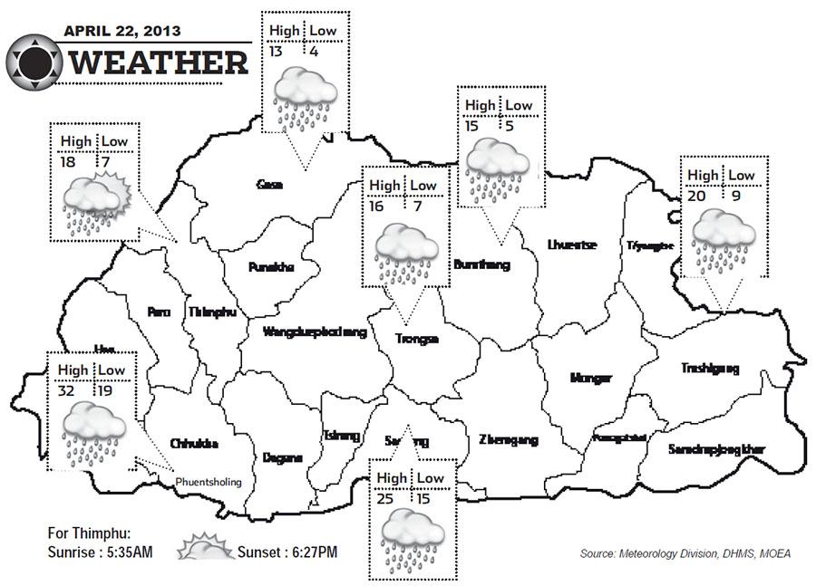 Bhutan Weather April 22 2013