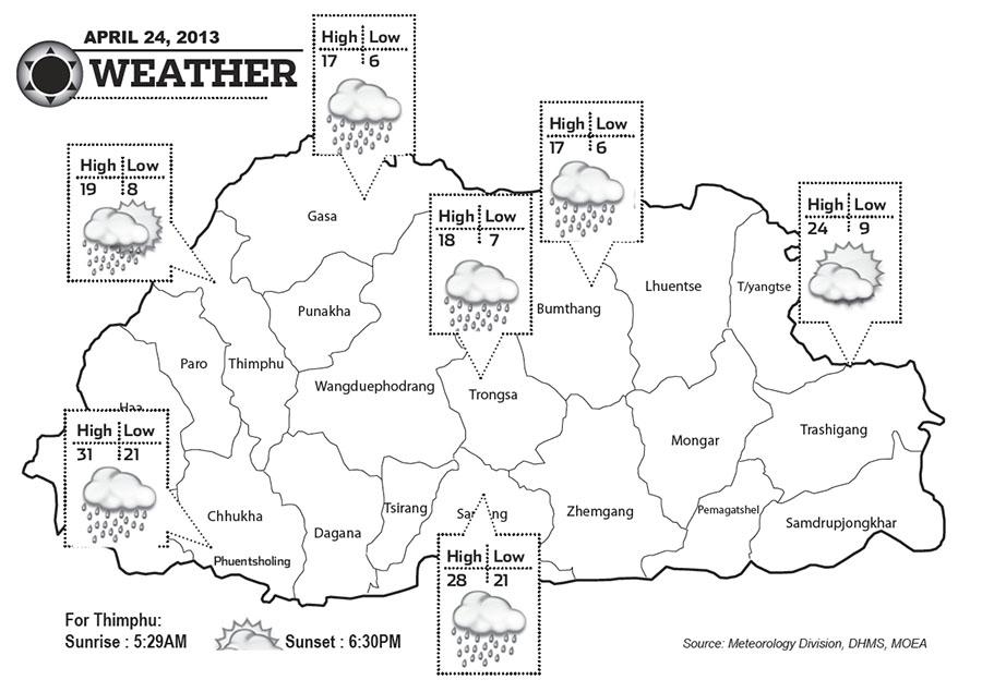 Bhutan Weather April 24 2013