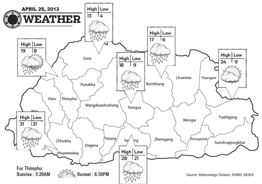 Bhutan Weather April 25 2013