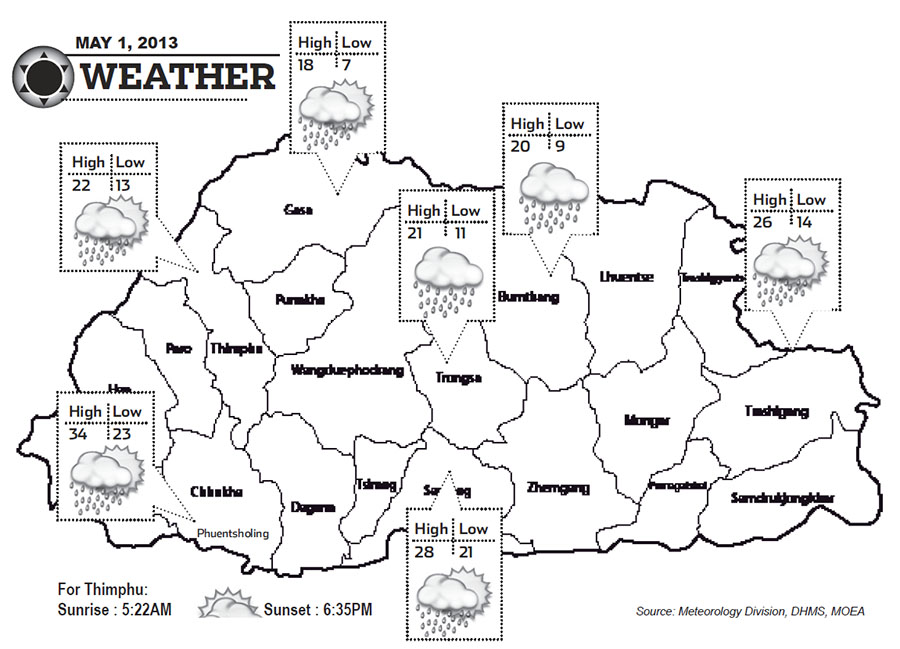 Bhutan Weather May 01 2013