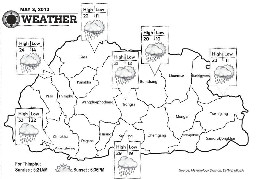Bhutan Weather May 03 2013
