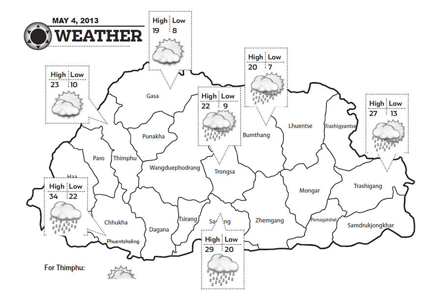 Bhutan Weather May 04 2013