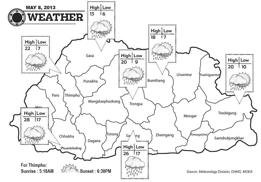 Bhutan Weather May 08 2013