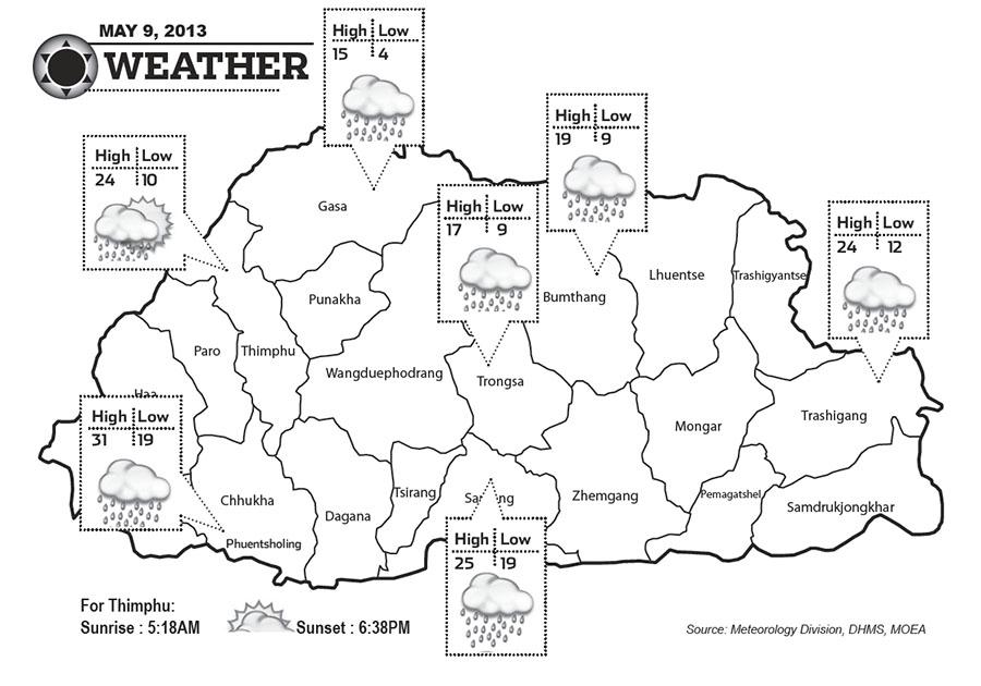 Bhutan Weather May 09 2013