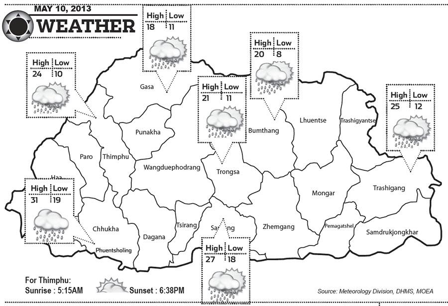 Bhutan Weather May 10 2013