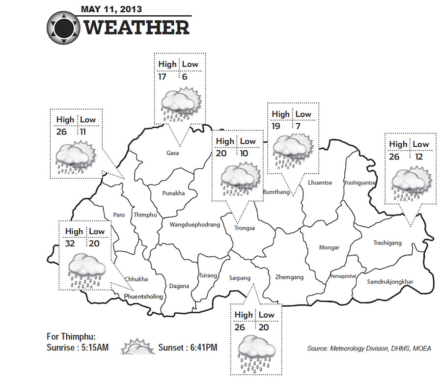 Bhutan Weather May 11 2013