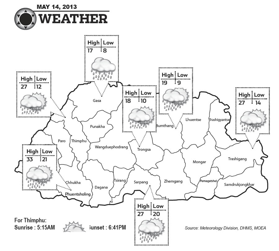 Bhutan Weather May 14  2013