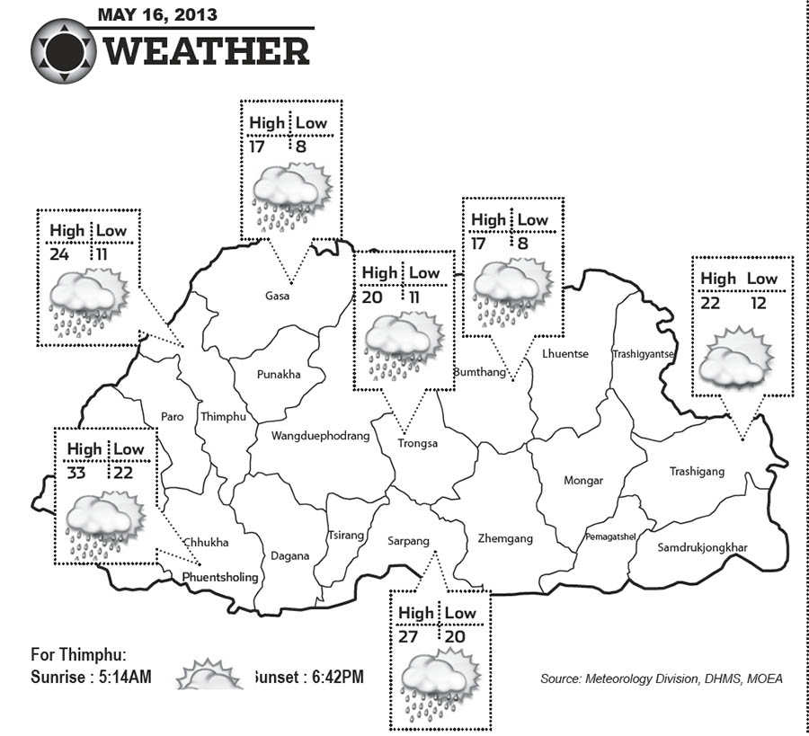 Bhutan Weather May 16 2013