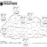Bhutan Weather for July 20 2013