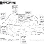 Bhutan Weather for July 25 2013