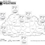 Bhutan Weather for July 27 2013