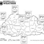 Bhutan Weather for September 18 2013