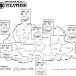 Bhutan Weather for September 19 2013