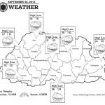 Bhutan Weather for September 30 2013
