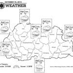 Bhutan Weather for October 15 2013