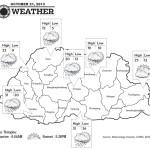 Bhutan Weather for October 21 2013