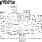 Bhutan Weather for October 25 2013