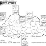 Bhutan Weather for October 30 2013
