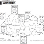 Bhutan Weather for November 20 2013.