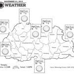 Bhutan Weather for November 21 2013