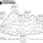 Bhutan Weather for November 22 2013
