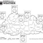 Bhutan Weather for November 25 2013